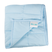 """Hugzz: Weighted Blanket 48"""" x 72"""" - 15lb Baby Blue"""
