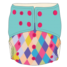 Bumwear: Cloth Diapers - Mermaid's Scales