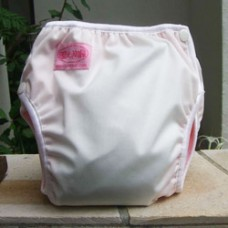 Bumwear: Training Pants - White Pink (Medium)