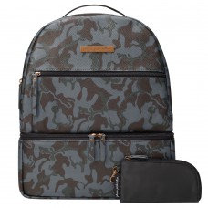 Petunia Pickle Bottom: Axis Backpack - Camo Leatherette (Indonesia Only)