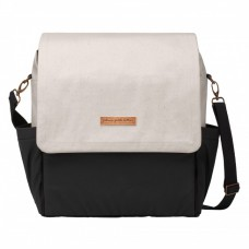 Petunia Pickle Bottom: Boxy Backpack - Birch/Black (Indonesia Only)