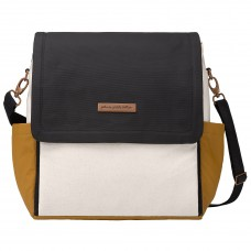 Petunia Pickle Bottom: Boxy Backpack - Caramel/Black (Indonesia Only)