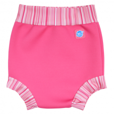 Splashabout: Happy Nappy Pink Candy Stripes - M 3-6mth (Indonesia Only)