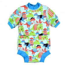 Splashabout: Happy Nappy Wetsuit Dino Pirates - L 6-14mth (Indonesia Only)