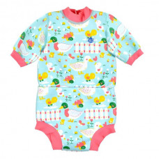 Splashabout: Happy Nappy Wetsuit Little Ducks - L 6-14mth (Indonesia Only)